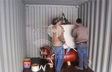 YIHE MACHINERY  plywood cold press loading