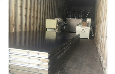 plywood machinery export to Vietnam contains 500t 15layers hot press and blade grinding machine loading